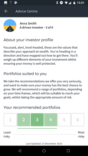 Moneyfarm Advice Centre, investment advice